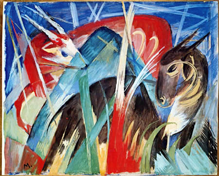 Franz Marc - Mythical creatures I
