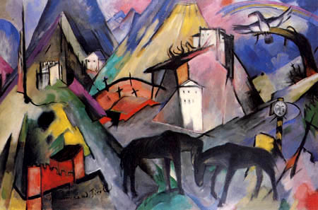 Franz Marc - The poor country Tirol