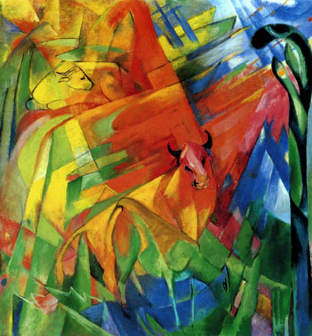 Franz Marc - Picture with bulls II