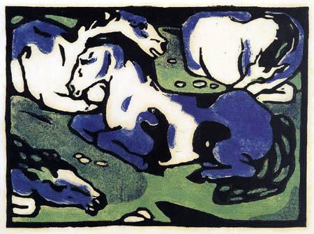 Franz Marc - Resting horses