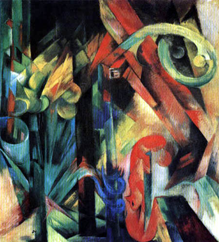 Franz Marc - Forest with squirrels