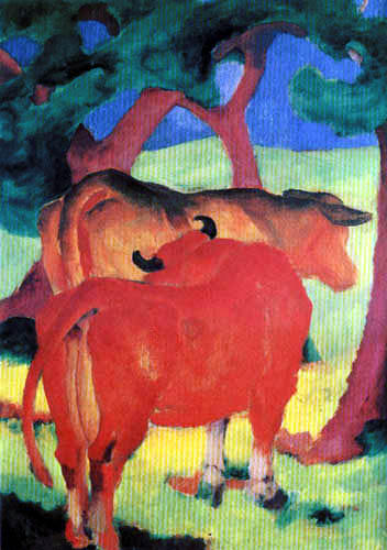 Franz Marc - Cows under trees