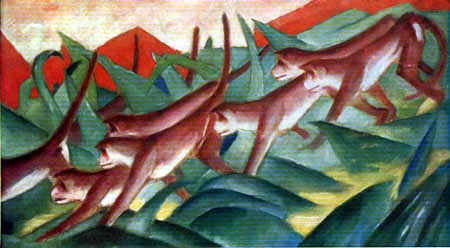 Franz Marc - Simian frieze