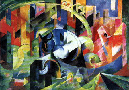 Franz Marc - Picture with cattle I