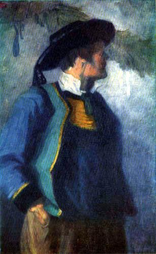 Franz Marc - Selfportrait in a breton garb