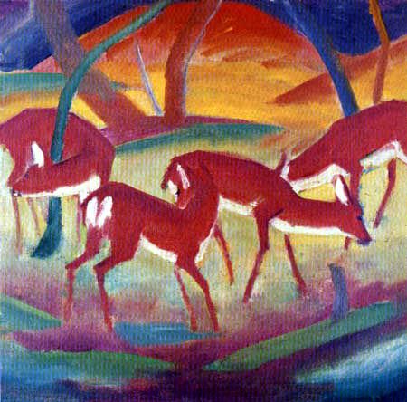 Franz Marc - Red deers