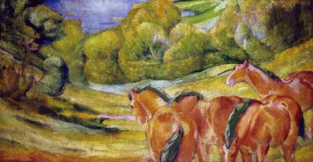 Franz Marc - Large Landscape I