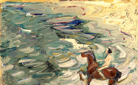 Franz Marc - Rider at the sea