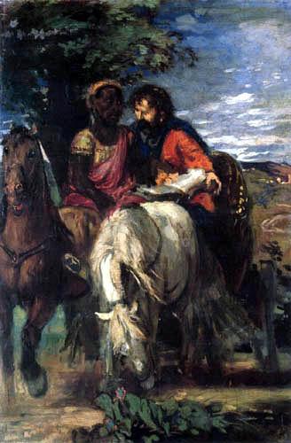 Hans von Marées - Philippus und der Kämmerer
