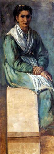 Hans von Marées - Frau auf der Treppe
