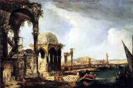 Michele Marieschi - Capriccio of an ancient city