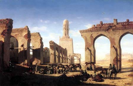 Prosper Marilhat - Ruinen der Al-Hakim-Moschee, Kairo