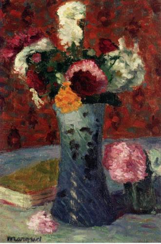 Albert Marquet - Blumenstrauß in einer blauen Vase