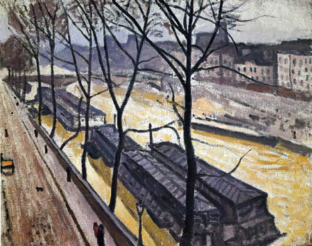 Albert Marquet - Paris in winter, Quai Bourbon