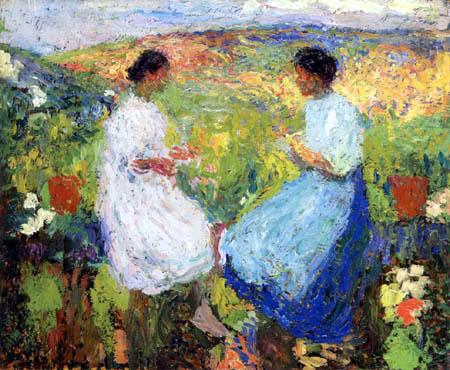 Henri Martin - Zwei sitzende Frauen