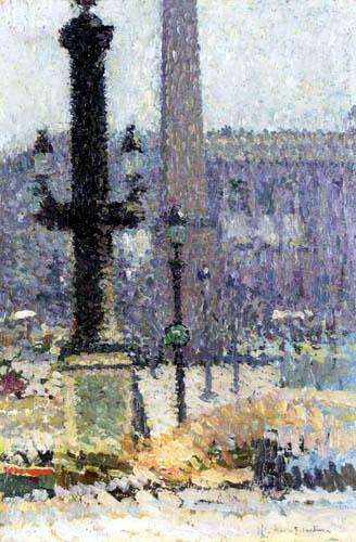 Henri Martin - Die Arbeiten an der Place de la Concorde, Studie