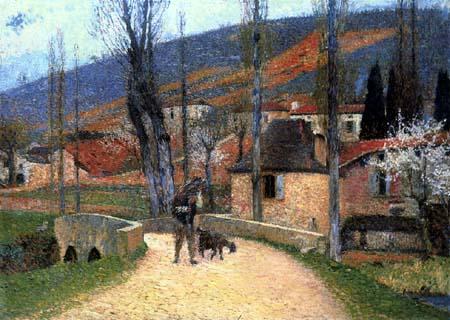 Henri Martin - Ins Dorf heimkehrender Bauer, Bastide-du-Vert