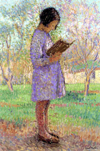 Henri Martin - Lesendes junges Mädchen