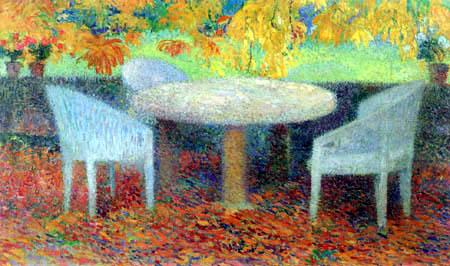 Henri Martin - Der große Steintisch unter der Kastanie