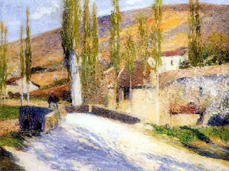 Henri Martin - Der Ausgang von Bastide-du-Vert von der Brücke