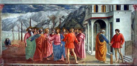 Masaccio (Tommaso di Ser ) - The interest penny
