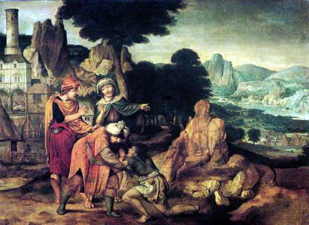 Cornelis Massys - The Return of the Prodigal Son
