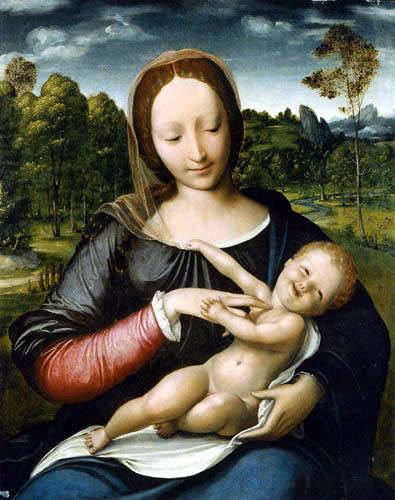 Jan Massys - Madonna with child