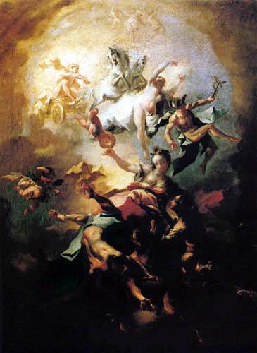 Franz Anton Maulbertsch (Maulpertsch) - Allegory of the dawn