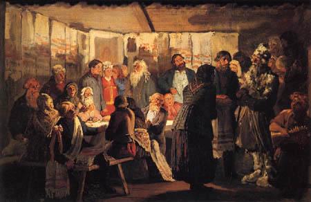 Wassili Maximowitsch Maximow - A magician on a farmer wedding