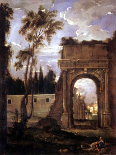 Juan Bautista Martínez del Mazo - Titus arch in Rome