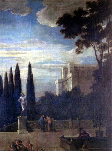 Juan Bautista Martínez del Mazo - Palace garden