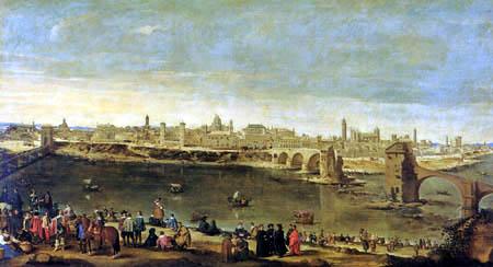Juan Bautista Martínez del Mazo - View of Zaragoza