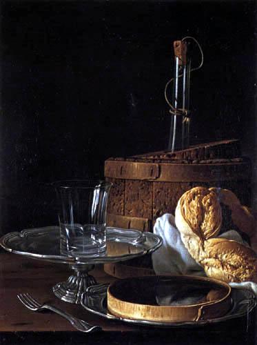 Luis E. Meléndez - Still Life with Bagel