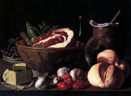 Luis E. Meléndez - Stillleben mit Brot und Gemüse