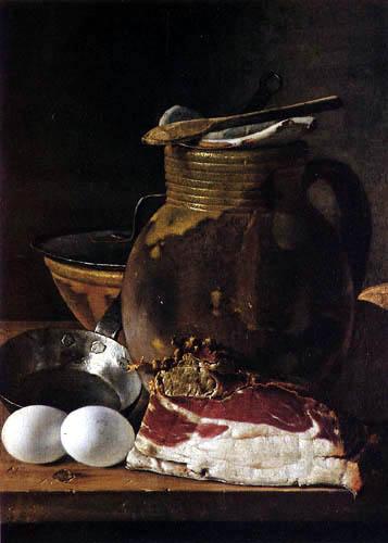 Luis E. Meléndez - Stillleben mit Eiern und Speck