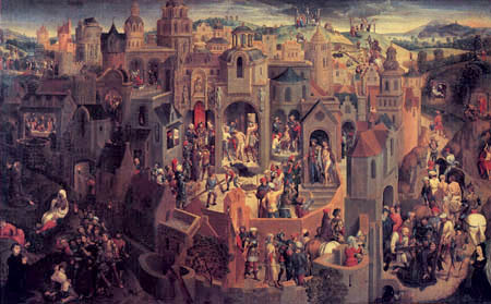 Hans Memling - Panorama with scenes from the Passion