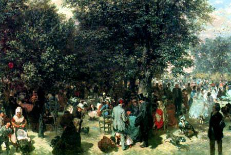 Adolph von (Adolf) Menzel - Ein Nachmittag im Tuileriengarten