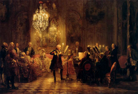 Adolph von (Adolf) Menzel - The Flute concert of Frederick II