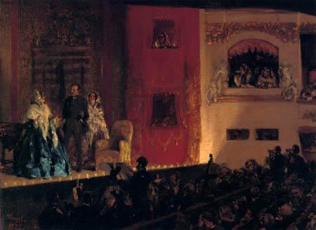 Adolph von (Adolf) Menzel - Das Théâtre du Gymnase