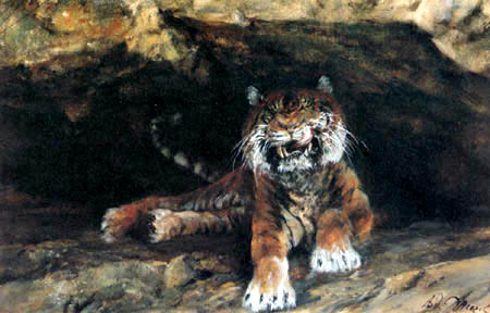 Adolph von (Adolf) Menzel - Der Tiger