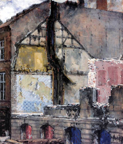 Adolph von (Adolf) Menzel - Demolition house