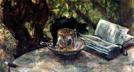 Adolph von (Adolf) Menzel - The Raven steals the silver spoon