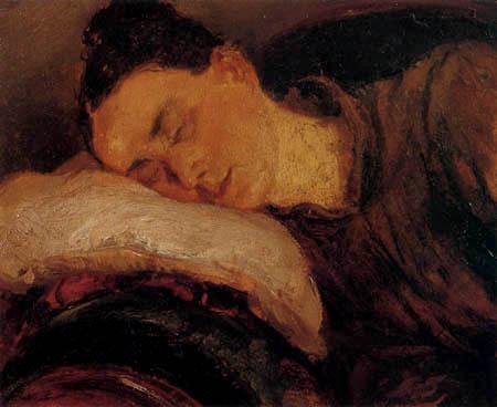 Adolph von (Adolf) Menzel - Sleeping woman