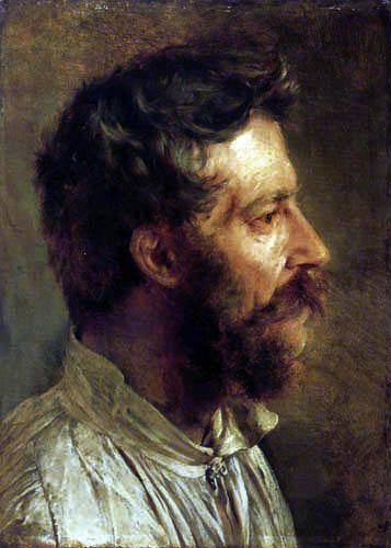 Adolph von (Adolf) Menzel - Homme barbu