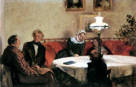 Adolph von (Adolf) Menzel - Kleine Abendgesellschaft