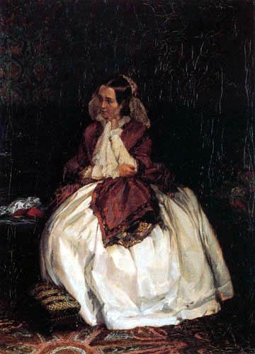 Adolph von (Adolf) Menzel - Portrait de Señora Maercker