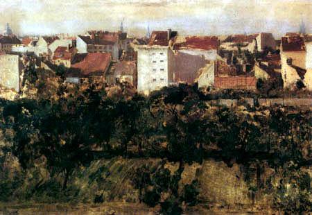 Adolph von (Adolf) Menzel - Häuser und Hinterhöfe