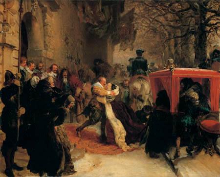 Adolph von (Adolf) Menzel - Gustave Adolphe receives his bride