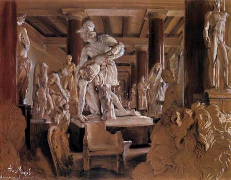 Adolph von (Adolf) Menzel - Aufbewahrungshalle des alten Museums