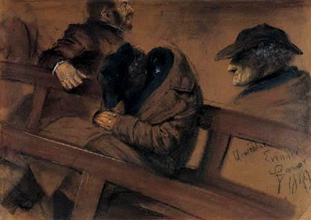 Adolph von (Adolf) Menzel - Männerkopfstudie